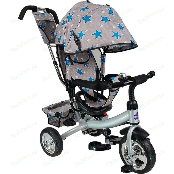Велосипед трехколёсный Farfello TSTX6588 серый с синими звездами