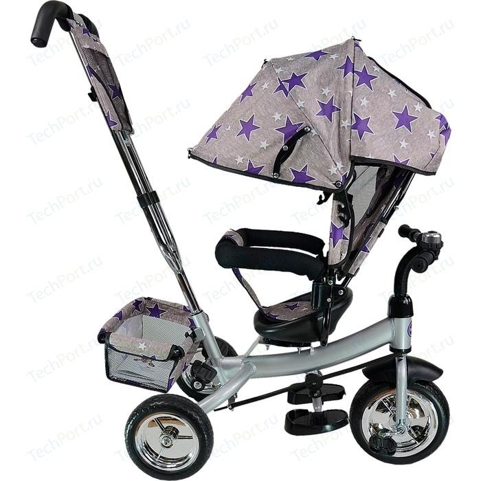 Велосипед трехколёсный Farfello TSTX6588 серый с фиолетовыми звездами