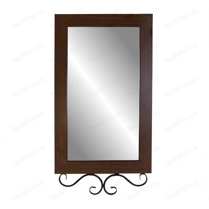 Зеркало навесное Мебелик Сартон 51 черный/средне-коричневый