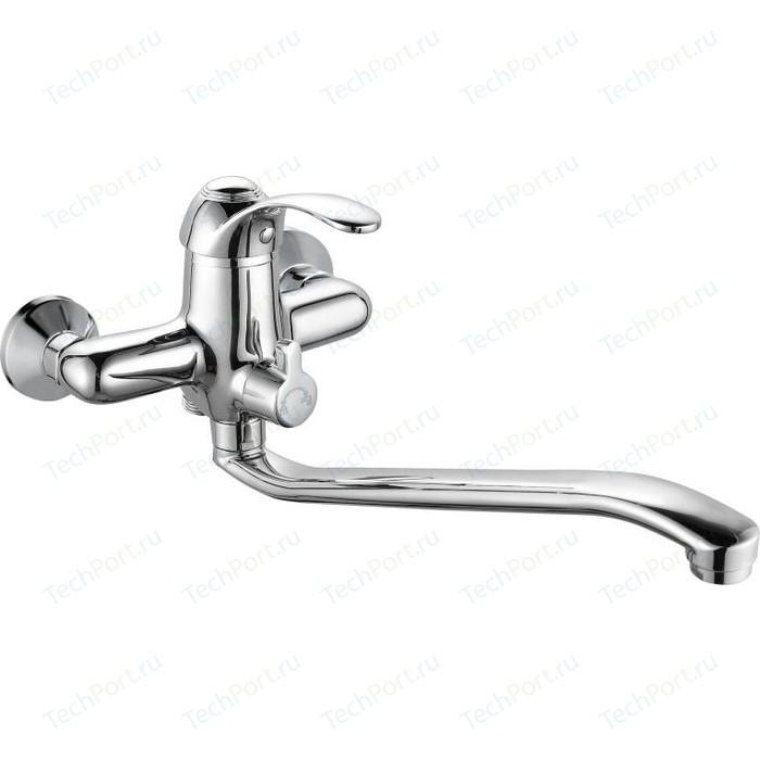 Смеситель для ванны GROSS AQUA Arabic с длинным изливом (7518516С - 35S)