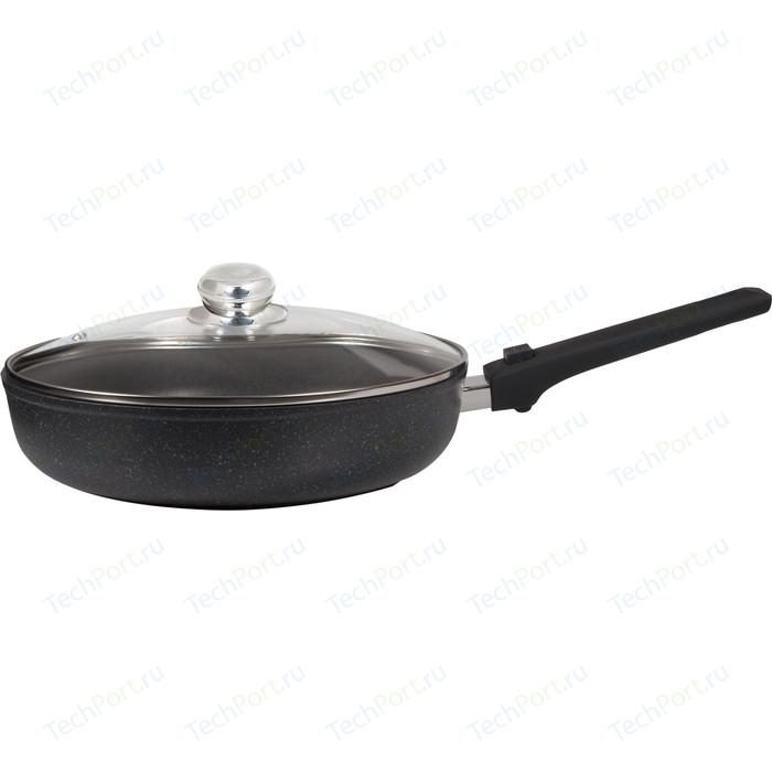 Сковорода с крышкой, съёмная ручка Panairo d 24см Lordom (LO-24-G-S)