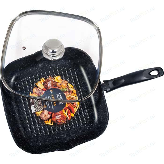 Сковорода-гриль с крышкой Panairo 27см Lordom (LO-27-G)