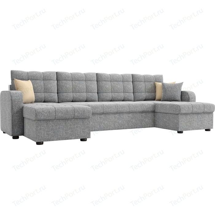 Фото - Диван АртМебель Ливерпуль рогожка серый П-образный диван артмебель валенсия рогожка серый п образный