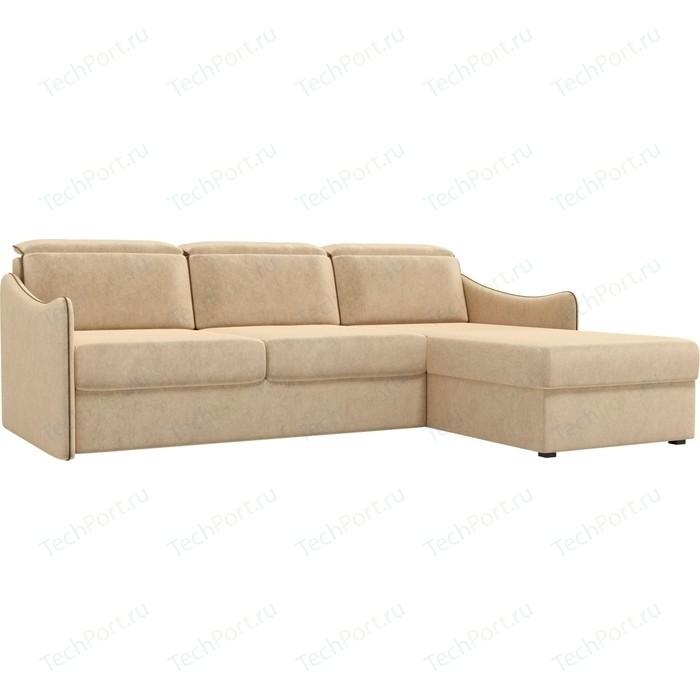 Фото - Диван угловой АртМебель Скарлетт вельвет бежевый правый угол диван угловой диван скарлетт правый скарлетт