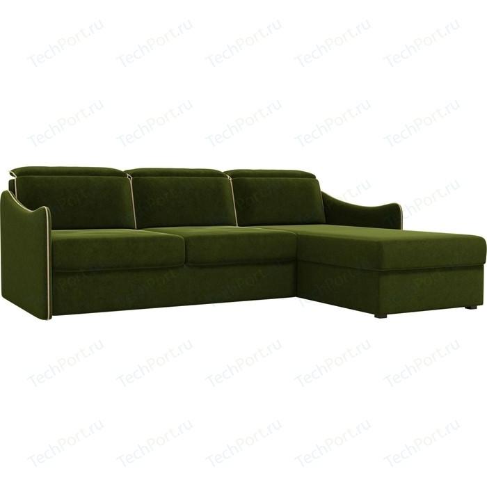 Фото - Диван угловой АртМебель Скарлетт вельвет зеленый правый угол диван угловой диван скарлетт правый скарлетт