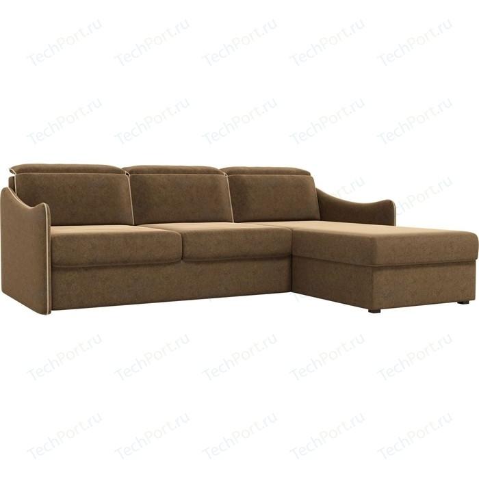 Фото - Диван угловой АртМебель Скарлетт вельвет коричневый правый угол диван угловой диван скарлетт правый скарлетт