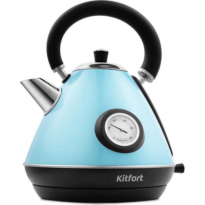 Чайник электрический KITFORT KT-644-1, голубой