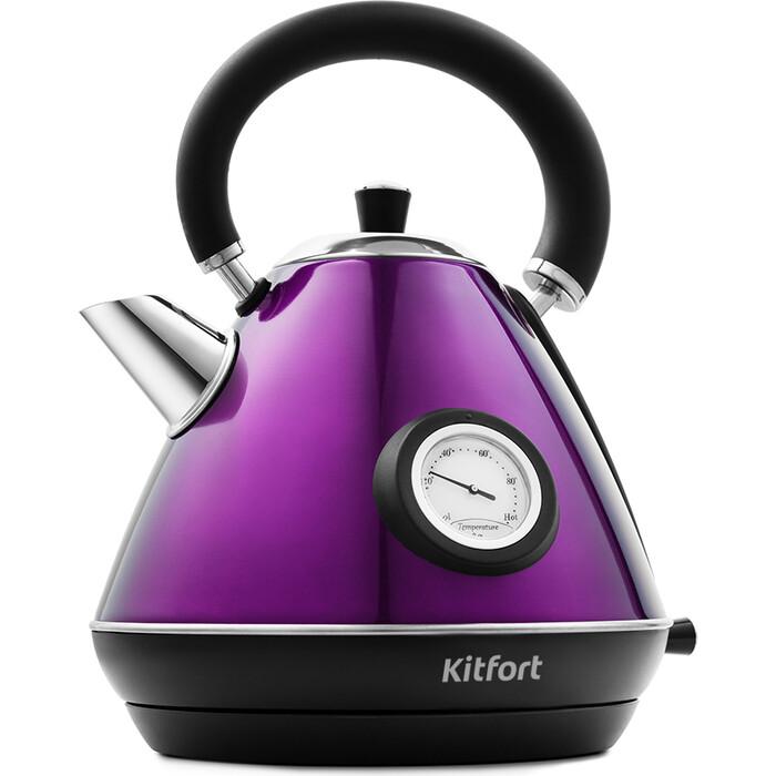 Чайник электрический KITFORT KT-644-4, фиолетовый
