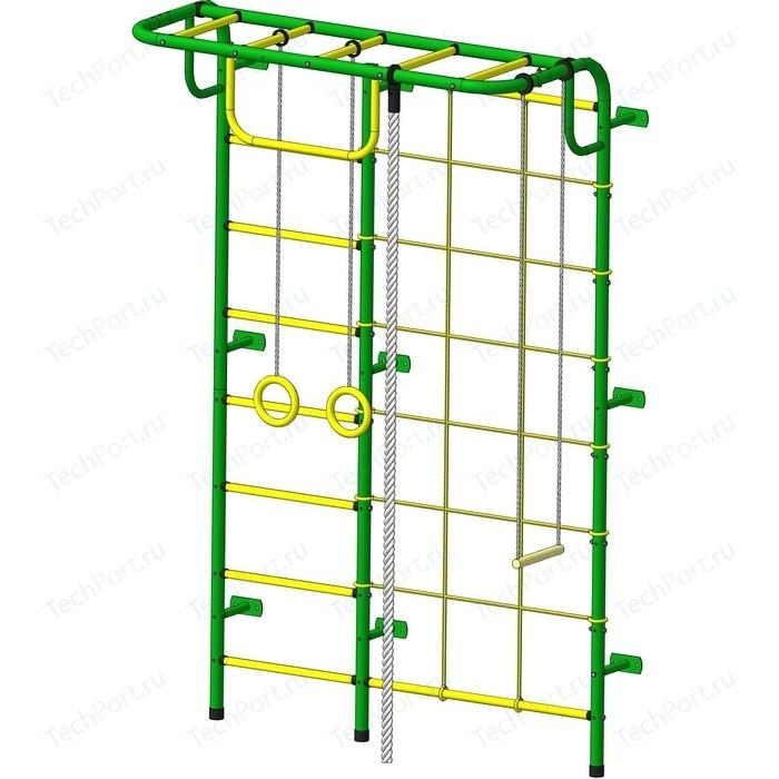 Детский спортивный комплекс Пионер С104М зелено-желтый