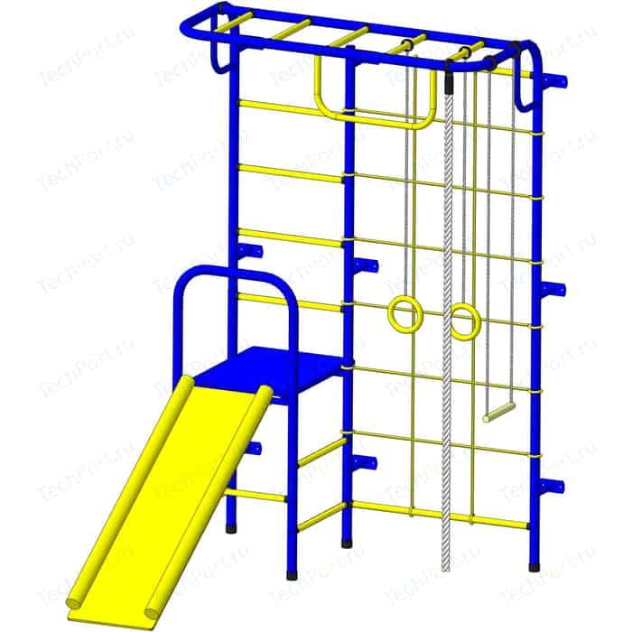 Детский спортивный комплекс Пионер С107 сине/желтый