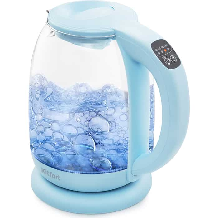 Чайник электрический KITFORT KT-640-1 голубой