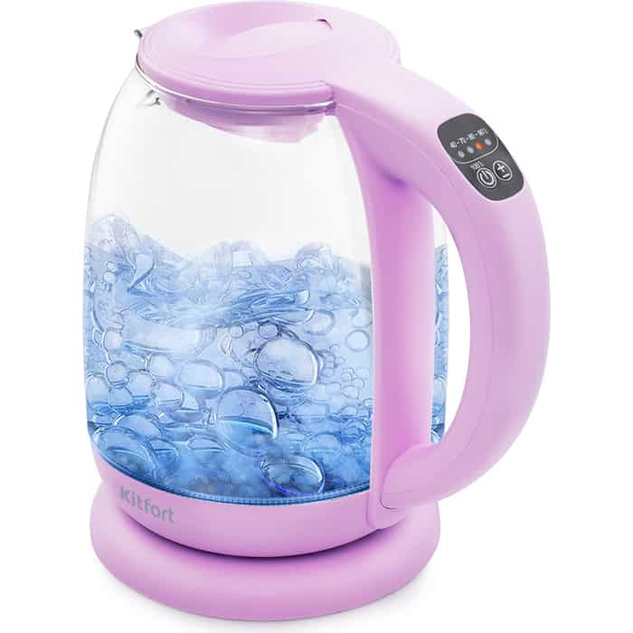 Чайник электрический KITFORT KT-640-2 сиреневый