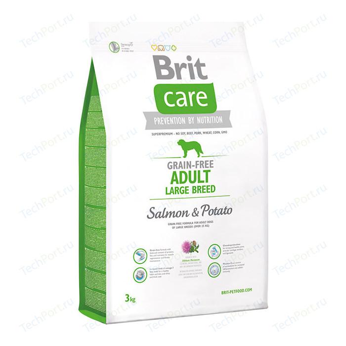 Сухой корм Brit Care Adult Large Breed Grain-free Salmon & Potato беззерновой с лососем и картофелем для собак крупных пород 3кг (132728)