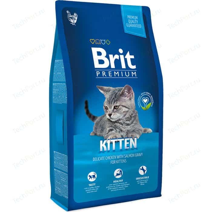 Сухой корм Brit Premium Cat Kitten с курицей в лососевом соусе для котят 8кг (513055)