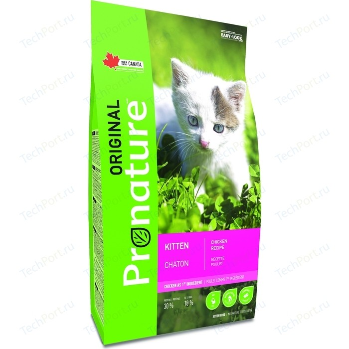 Сухой корм Pronature Original Kitten Chicken Recipe с курицей для котят 20кг (102.447) (OC-5)
