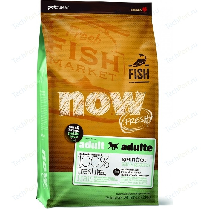 Сухой корм NOW FRESH NATURAL Dog Adult Small Breed GF Trout, Salmon & Herring беззерновой с форелью,лососем и сельдью для собак мелких пород 5,45кг