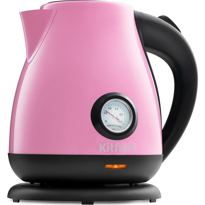 Чайник электрический KITFORT KT-642-1, розовый