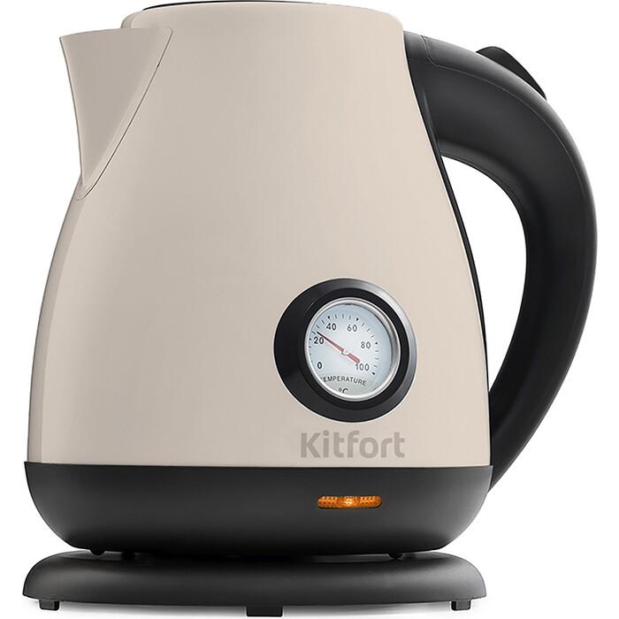 Фото - Чайник электрический KITFORT KT-642-3, белый чайник kitfort kt 642 1 розовый 2200 вт 1 7 л