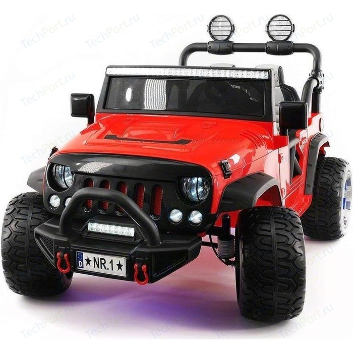 Электромобиль Hollicy Jeep Wrangler Red 2WD - SX1718-S цена 2017