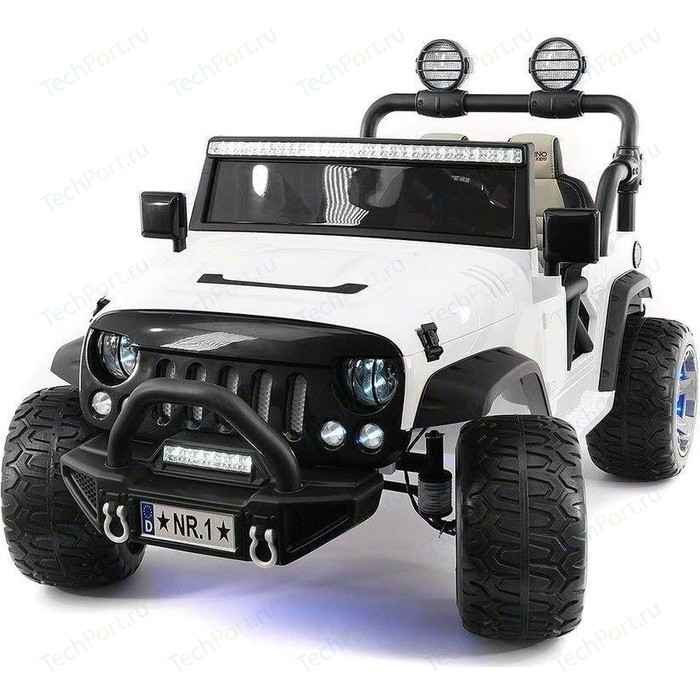 Электромобиль Hollicy Jeep Wrangler White 2WD - SX1718-S цена 2017