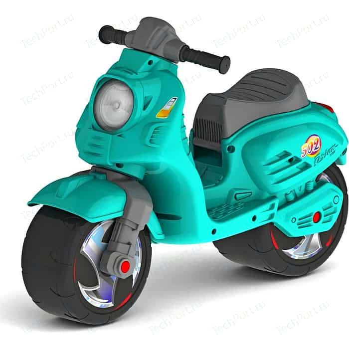 Каталка-мотоцикл RT ОР502 беговел СКУТЕР цвет аква