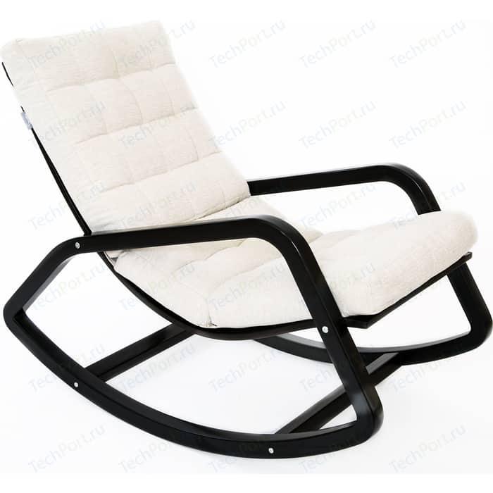 Кресло-качалка Мебелик Онтарио ткань гардения/каркас венге