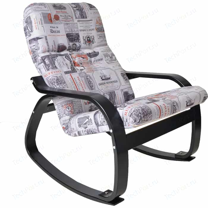Кресло-качалка Мебелик Сайма ткань винум 03/каркас венге