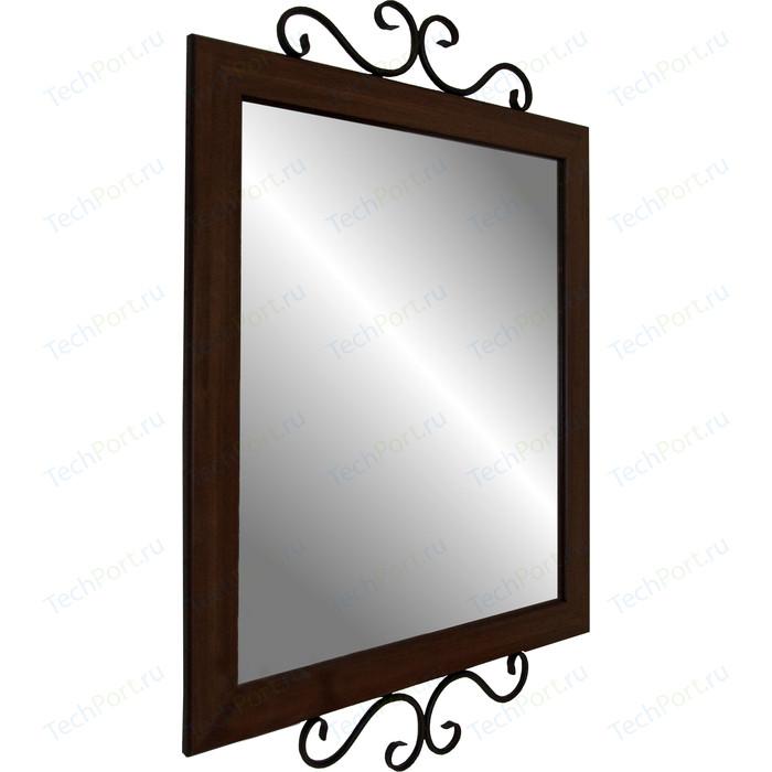 Мебелик Зеркало навесное Сартон 52 черный/средне-коричневый