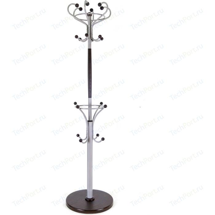 Мебелик Вешалка напольная Д 4 металлик/ венге