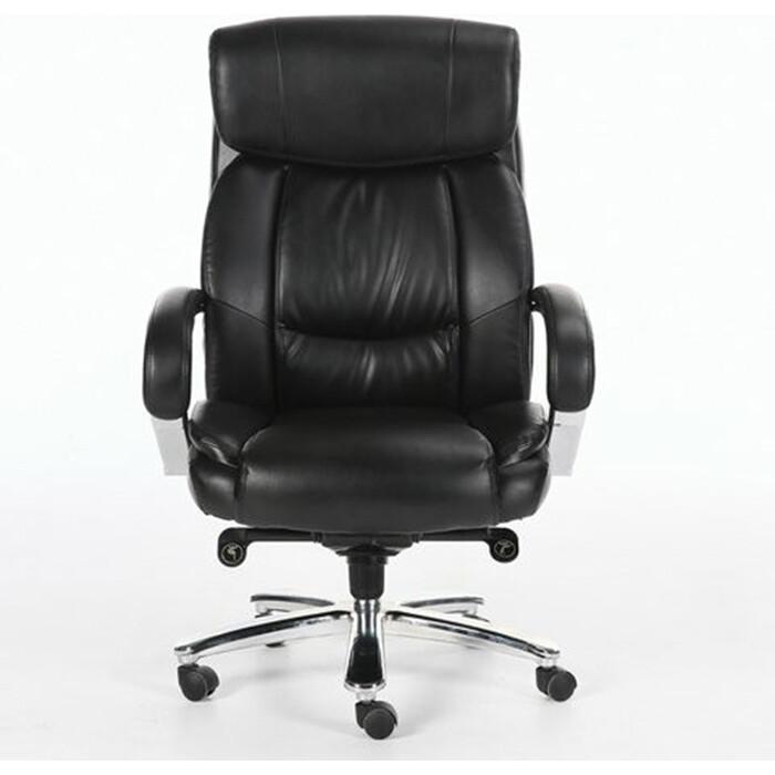 Фото - Кресло офисное Brabix Direct EX-580 хром, рециклированная кожа/черное 531824 кресло офисное brabix status hd 003 рециклированная кожа хром черное 531821
