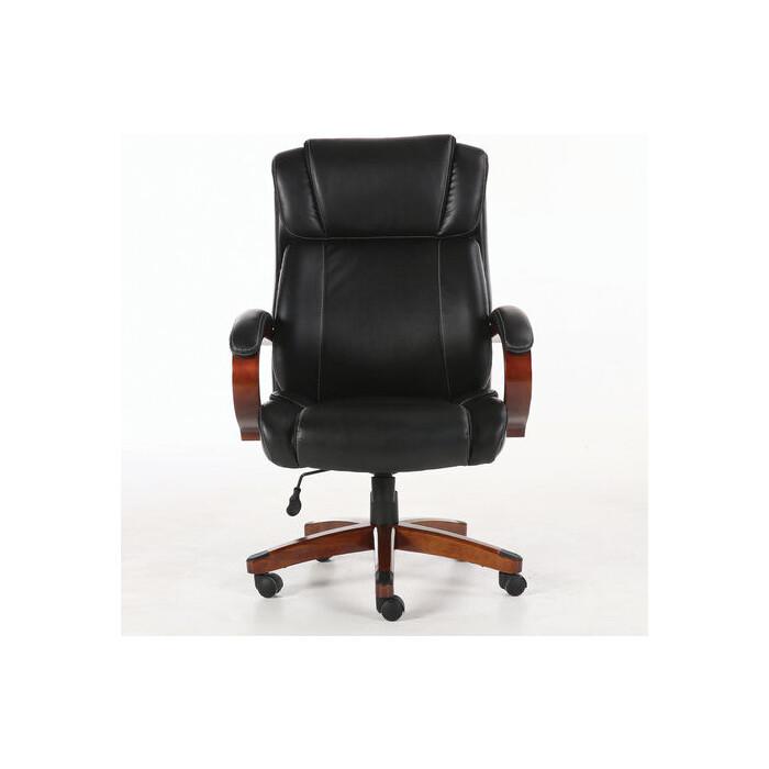 Фото - Кресло офисное Brabix Magnum EX-701 дерево/рециклированная кожа, черное 531827 кресло офисное brabix status hd 003 рециклированная кожа хром черное 531821