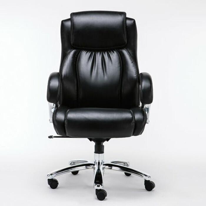 Фото - Кресло офисное Brabix Status HD-003 рециклированная кожа/хром, черное 531821 кресло офисное brabix status hd 003 рециклированная кожа хром черное 531821