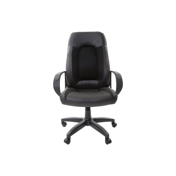 Кресло офисное Brabix Strike EX-525 экокожа черная, ткань черная TW 531381