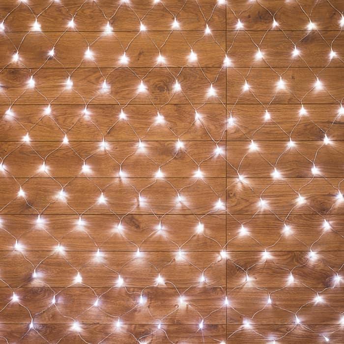 Neon-Night Гирлянда Сеть 1,8х1,5м, прозрачный ПВХ, 180 LED Белые