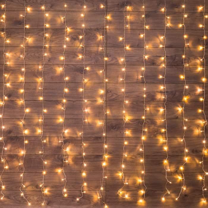 Neon-Night Гирлянда Светодиодный Дождь 2*3 м, свечение с динамикой, прозрачный провод, 230 В, диоды Теплый Белый гирлянда neon night мишура светодиодная 288 led цвет прозрачный розовый 3 м