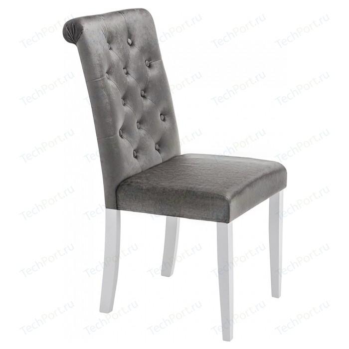 Стул Woodville Amelia white/fabric grey стул woodville amelia дерево текстиль цвет white fabric grey