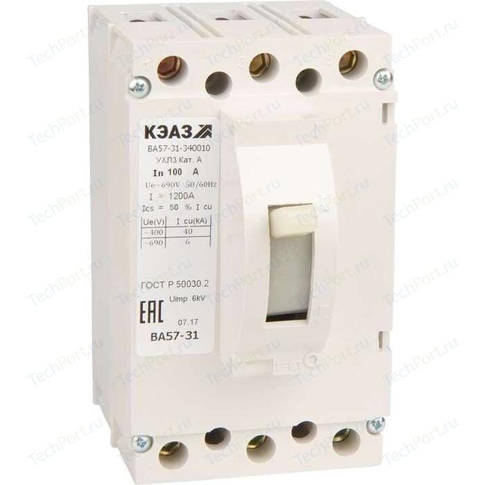 Выключатель автоматический КЭАЗ ВА57-31-340010 100А 1200Im 690AC УХЛ3 (108427)