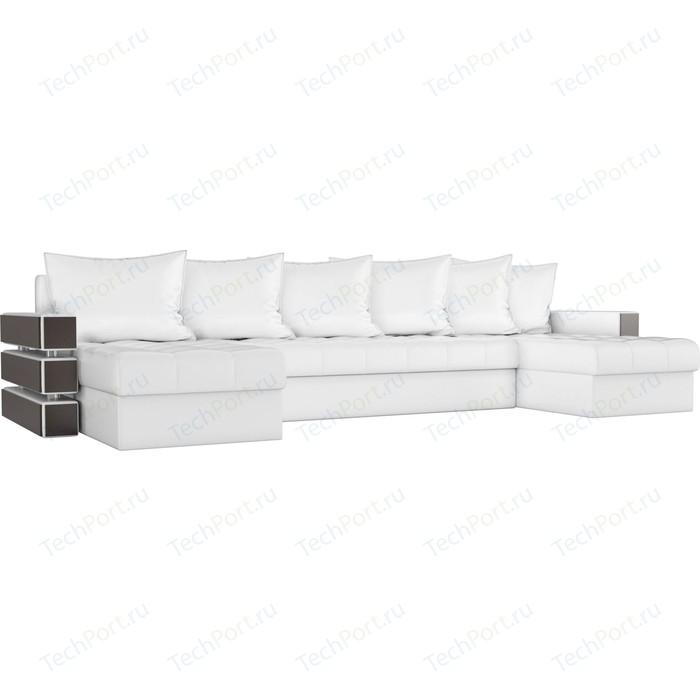 Диван П-образный АртМебель Венеция экокожа белый