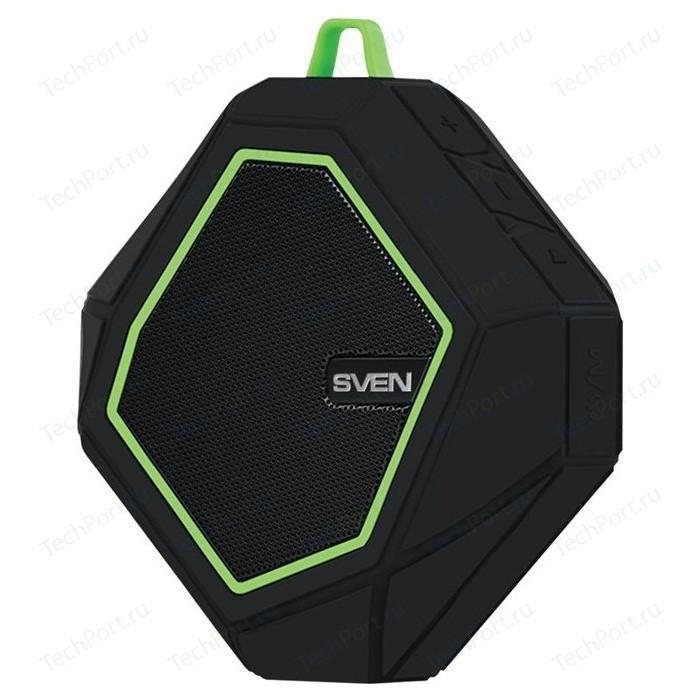Портативная колонка Sven PS-77 black/green
