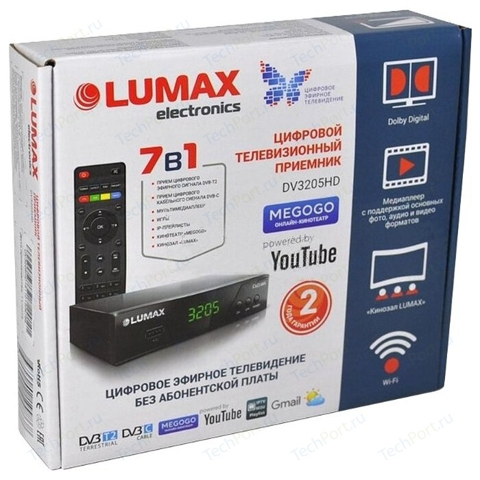 Тюнер DVB-T2 Lumax DV-3205HD