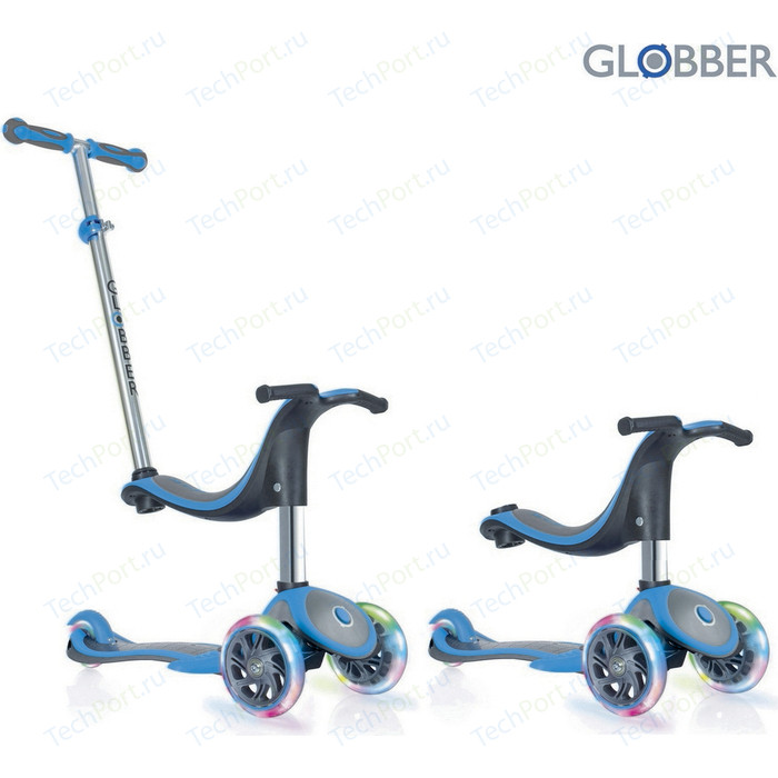 Самокат 3-х колесный Globber 454-130 GLOBBER EVO 4 in 1 PLUS Blue (6654)
