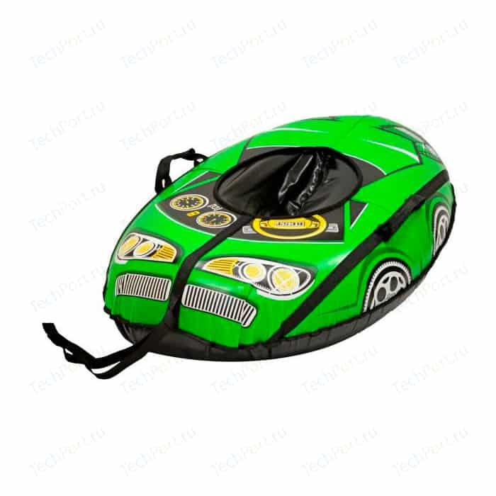 Тюбинг Тяни Толкай МАШИНКА Best Racer зеленая автокамера, 110x65 см