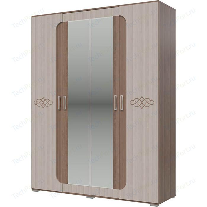 Шкаф 4-х дверный Гранд Кволити Пальмира 4-4820 ясень темный/светлый недорого