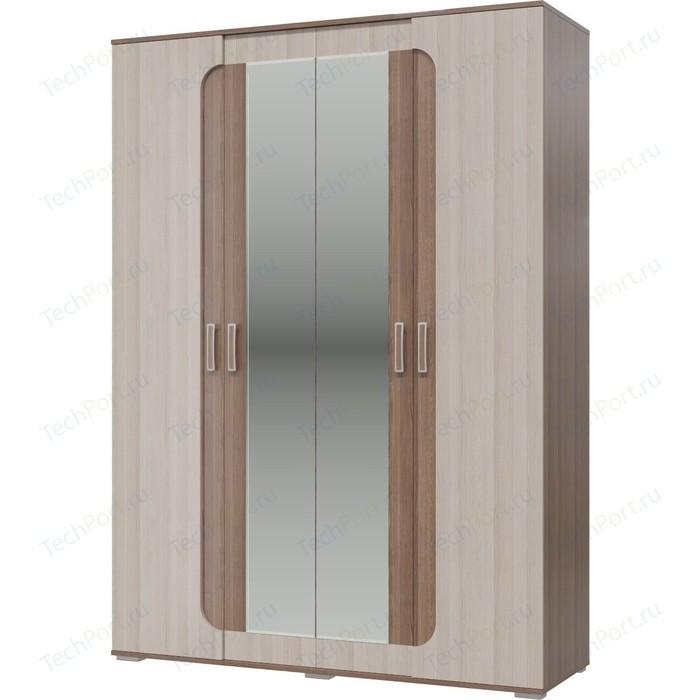 Шкаф 4-х дверный Гранд Кволити Пальмира 1600 4-4821 ясень темный/светлый