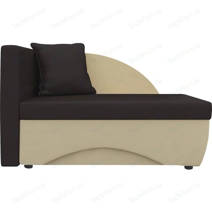 Кушетка Шарм-Дизайн Трио экокожа бежевый/коричневый левый кушетка шарм дизайн трио экокожа бежевый коричневый левый