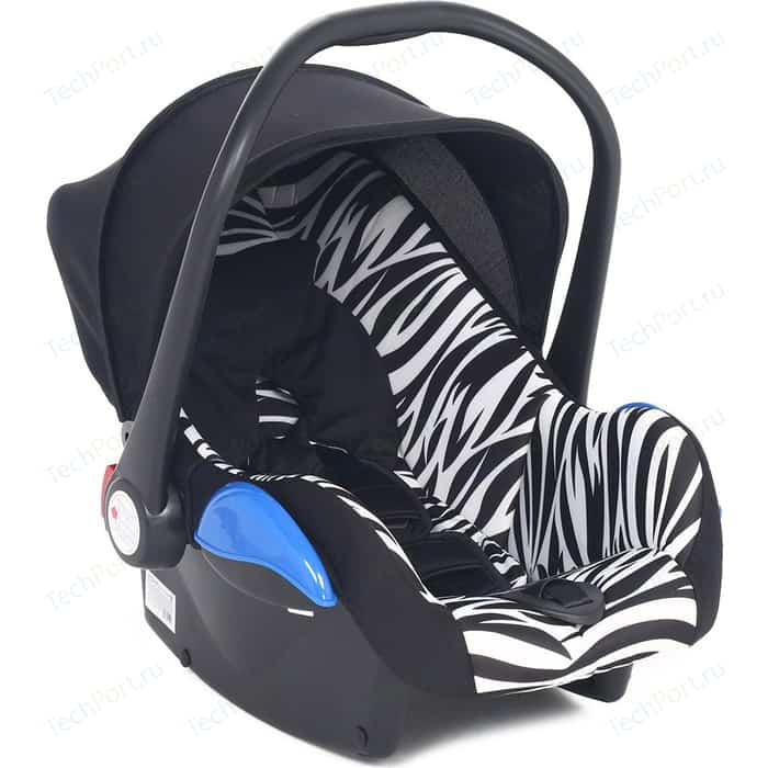 Автокресло Leader Kids 0-13 кг ROOMER II ZEBRA черн+принт зебра