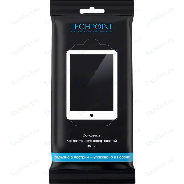 Чистящие салфетки Techpoint влажные, для оптических поверхностей, бумага Lux, 40 шт