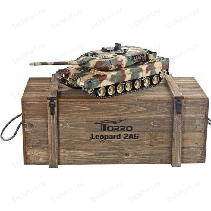 Радиоуправляемый танк Taigen Leopard 2 A6 (для ИК танкового боя) CAMO RTR масштаб 1:16 2.4G - TG3889-1B-CM-IR