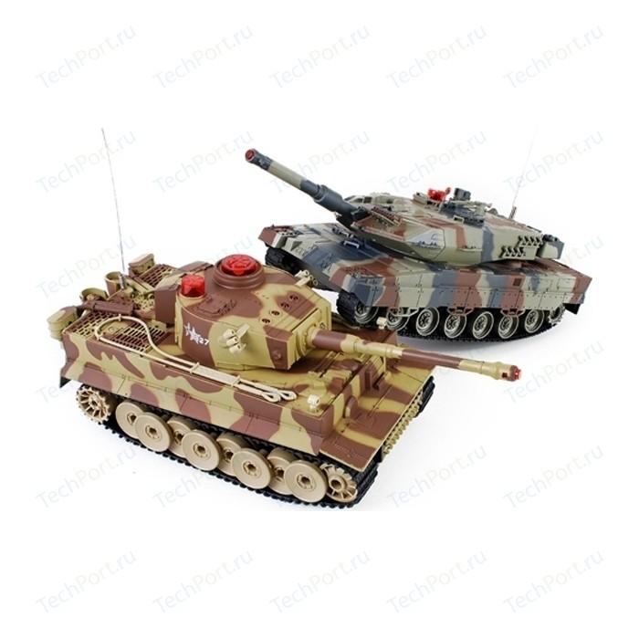 Радиоуправляемый танковый бой Huan Qi Tiger vs Abrams масштаб 1:24 27Mhz vs 40Mhz- HQ558N