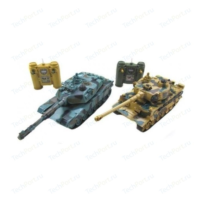 Радиоуправляемый танковый бой Huan Qi Leopard 2A5 vs Tiger I масштаб 1:28 RTR 27Mhz - 99823